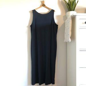 Eddie Bauer Cotton Black Sleeveless Tank Dress
